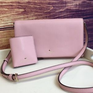 Kate Spade Light Pink Crossbody w/ Matching Wallet
